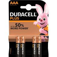 Pila alcalina AAA DURACELL Plus Power, pack 4 unid.