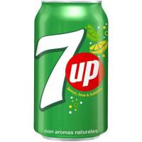 Refresco de lima-limón 7UP, lata 33 cl