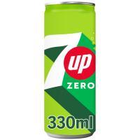 Refresco de lima-limón 7UP, lata 33 cl