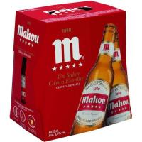 Cerveza MAHOU 5 Estrellas, pack botellín 6x25 cl