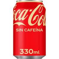 Refresco de cola sin cafeína COCA COLA, lata 33 cl