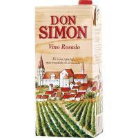 Vino Rosado de mesa DON SIMON, brik 1 litro