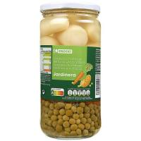 Mezcla de verduras a la jardinera EROSKI, frasco 425 g