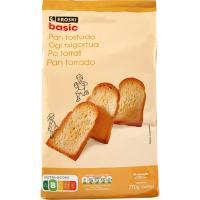 Pan tostado EROSKI basic, 30 rebanadas, paquete 270 g
