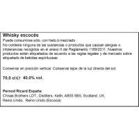 Whisky 12 años CHIVAS REGAL, botella 70 cl