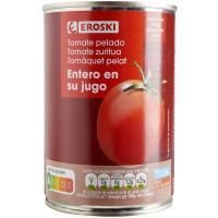 Tomate natural entero pelado EROSKI, lata 390 g