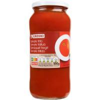 Tomate frito EROSKI, frasco 550 g