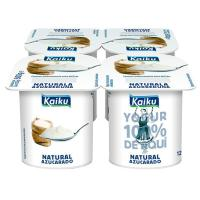 Yogur natural azucarado KAIKU, pack 4x125 g