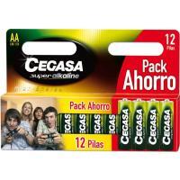 Pila super alcalina LR6 ahorro CEGASA, pack 12 unid.
