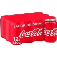 Refresco de cola COCA COLA, pack 12x33 cl