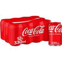 Refresco de cola COCA COLA, pack 12x33 cl