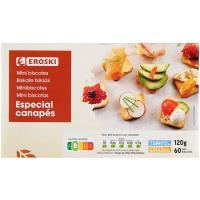 Mini biscottes EROSKI, caja 120 g