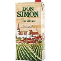 Vino Blanco de mesa DON SIMÓN, brik 1 litro