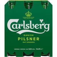 Cerveza CARLSBERG, pack botellín 6x25 cl