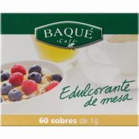 Edulcorante BAQUÉ, caja 60 sobres
