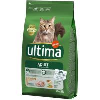 Alimento de pollo-arroz para gato adulto ULTIMA, saco 1,5 kg