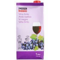 Vino Tinto EROSKI basic, brik 1 litro