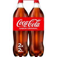 Refresco de cola COCA COLA, pack 2x2 litros