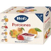 Confituras HERO, porciones pack 8x25 g