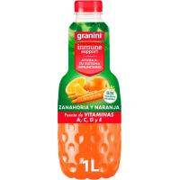 Bebida de zanahoria y naranja inmune GRANINI, botella 1 litro