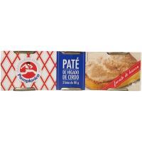 Paté de cerdo PAMPLONICA, pack 3x80 g