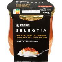 Arroz con leche Eroski SELEQTIA, tarro de barro 140 g