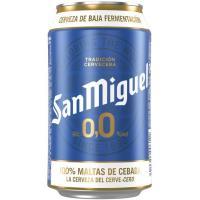 Cerveza sin alcohol 0,0 SAN MIGUEL, lata 33 cl