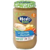 Potito de merluza con verduras HERO, tarro 235 g