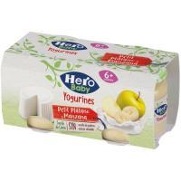 Petit de plátano-manzana-queso HERO, pack 2x80 g