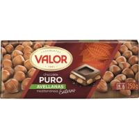 Chocolate puro con avellanas VALOR, tableta 200 g