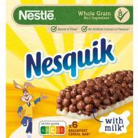 Barrita de cereal NESTLÉ Nesquik, 6 uds., caja 150 g