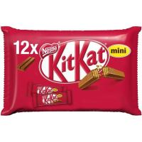 Kit kat de chocolate con leche mini NESTLÉ, pack 12x16,6 g