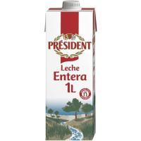 Leche entera PRESIDENT, brik 1 litro