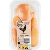 Pechuga entera de pollo EROSKI Natur, 2-3 uds., bandeja aprox. 350 g