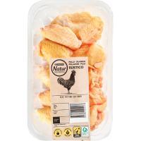 Alas de pollo partidas sin punta EROSKI Natur, bandeja aprox. 450 g