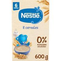 Papilla de 8 cereales con bífidus NESTLÉ, caja 600 g