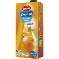 Néctar de naranja sin azúcar DISFRUTA, brik 2 litros