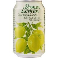 Cerveza sabor limón DAMM, lata 33 cl