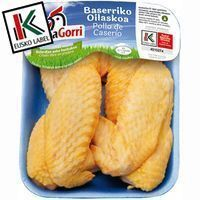 Alas de pollo de caserío EUSKO LABEL LUMAGORRI, bandeja aprox. 450 g