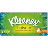 Pañuelos de papel balsámicos 10x9 KLEENEX, paquete 8+2 unid.