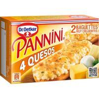 Panninis de 4 quesos DR. OETKER, pack 2x125 g