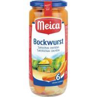 Salchichas Bockwurst MEICA, 6 unid., frasco 250 g