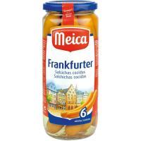 Salchichas Frankfurter MEICA, 6 unid., frasco 250 g