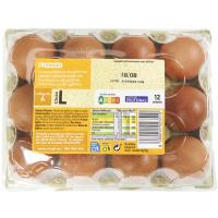 Huevo fresco L EROSKI, cartón 12 uds.