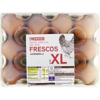 Huevo fresco XL EROSKI, cartón 12 uds.
