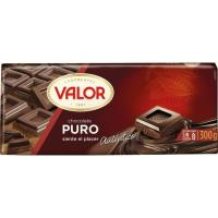 Chocolate puro VALOR, tableta 300 g