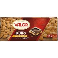 Chocolate puro con almendras VALOR, tableta 250 g