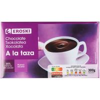 Chocolate a la taza EROSKI, tableta 300 g