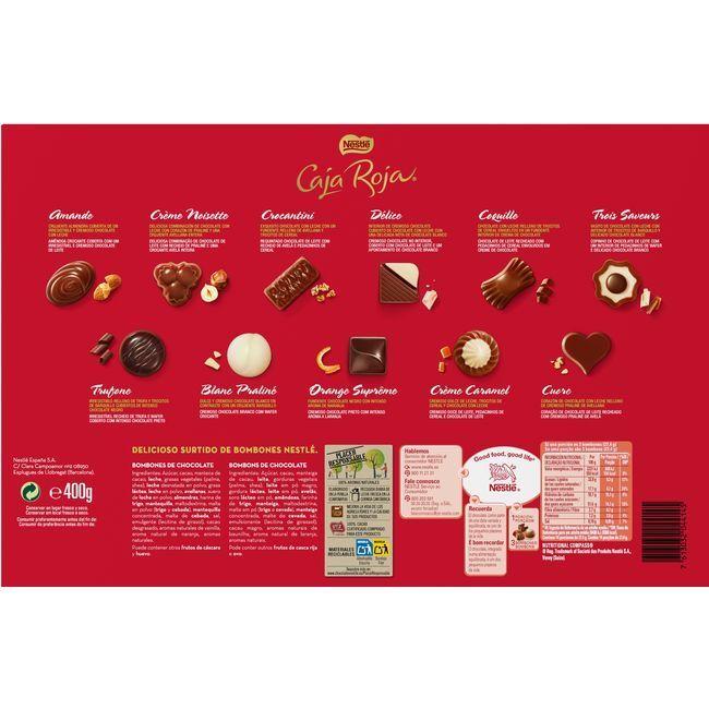 Bombones NESTLÉ Caja Roja, caja 400 g