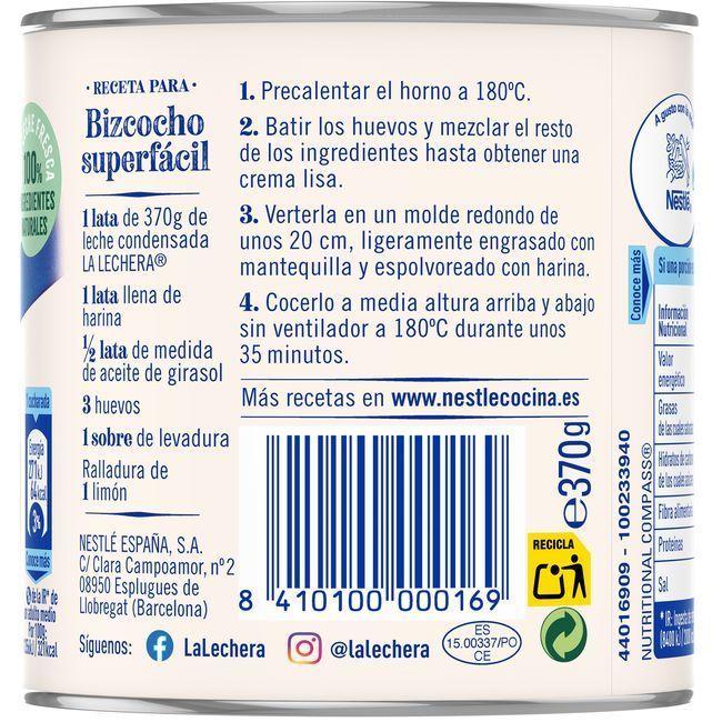 Leche Condensada LA LECHERA, lata 370 g